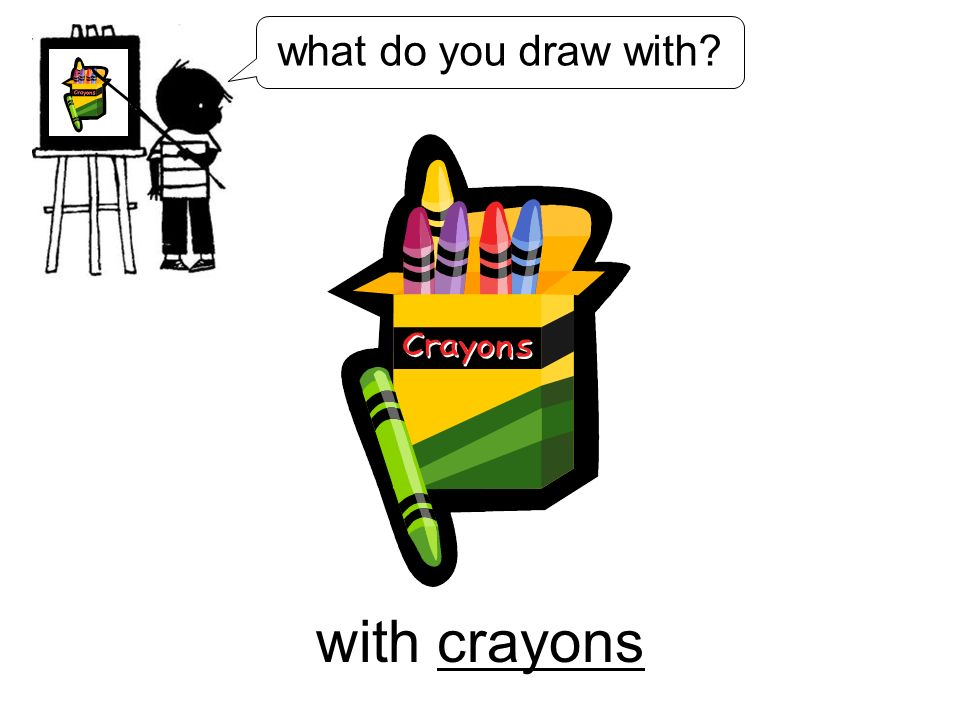 with crayons what do you draw with