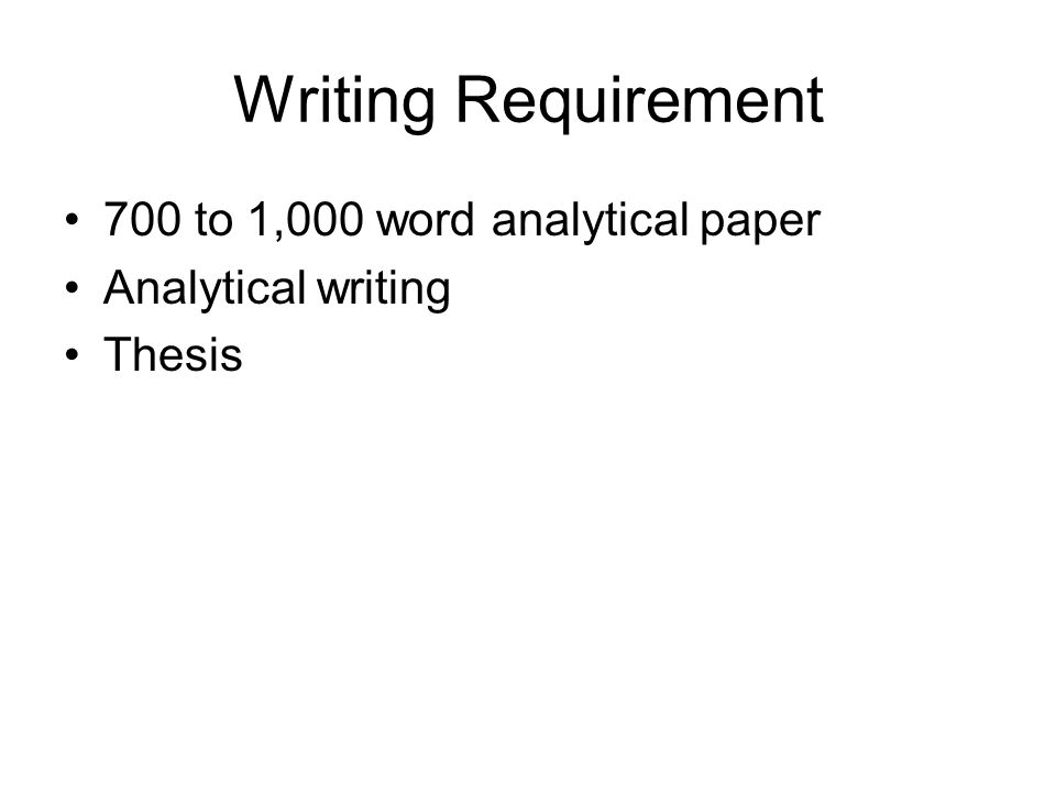 writing a thesis for an analytical paper You can click on the example button in each section to see an example of a thesis statement question: write the the question you your essay's thesis to.