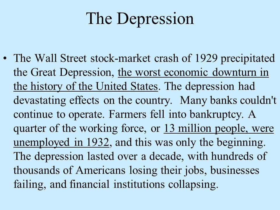 essays on the stock market crash of 1929 Causes of the Stock Market Crash of 1929 Essay