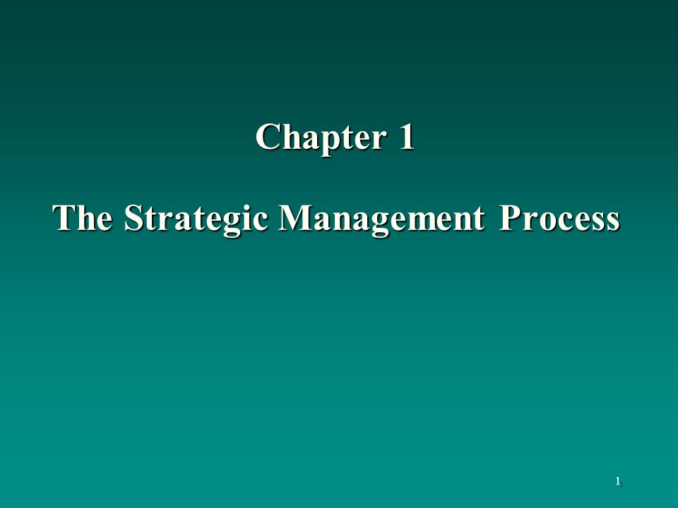 2 Learning Objectives To understand: the elements or stages of the strategic management process.