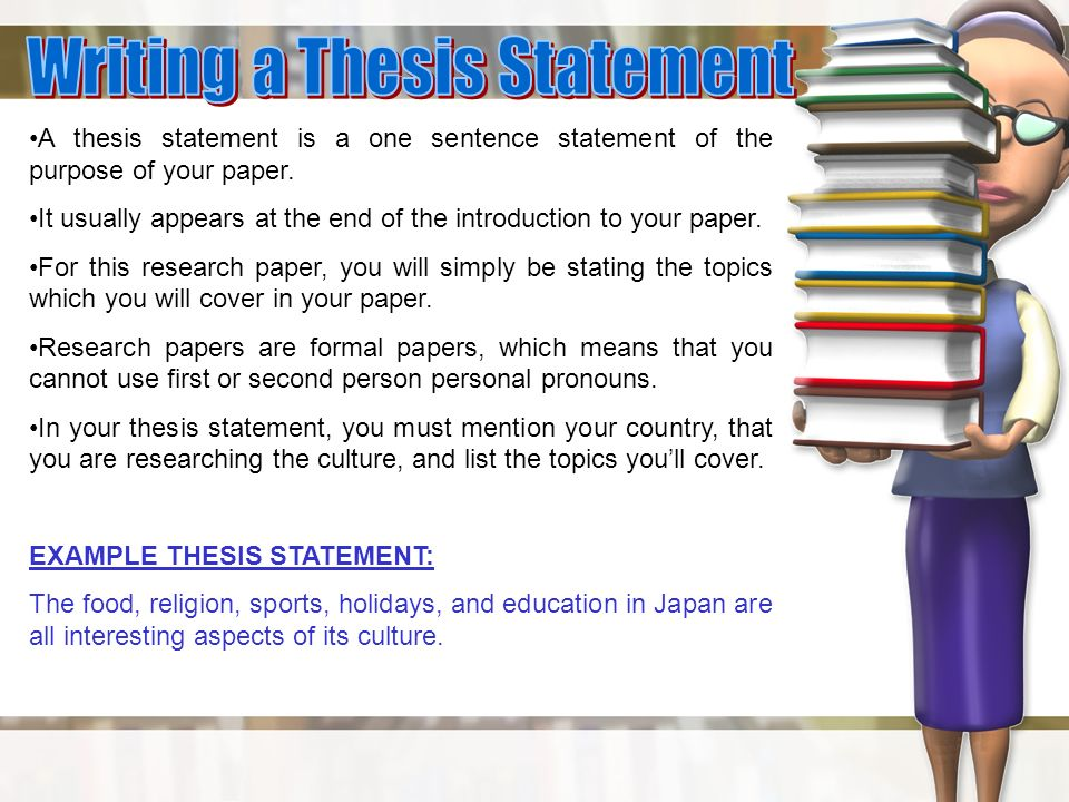 Example Research Paper Thesis Statement