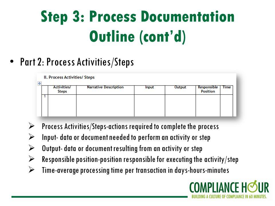 7 step 3 process documentation - Process Of Documentation