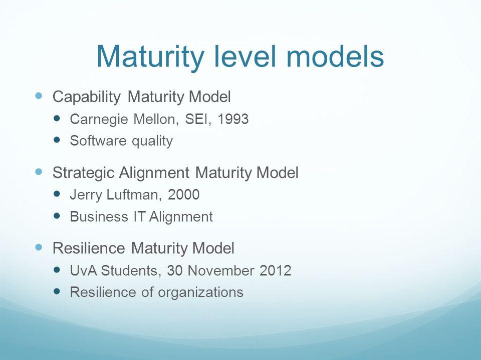 jerry luftman maturity model