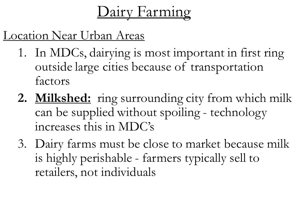 Topic Commercial Farming Ppt Video Online Download - Us map milkshed