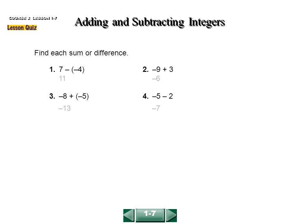 Integers Worksheets Delibertad – Addition and Subtraction of Integers Worksheets