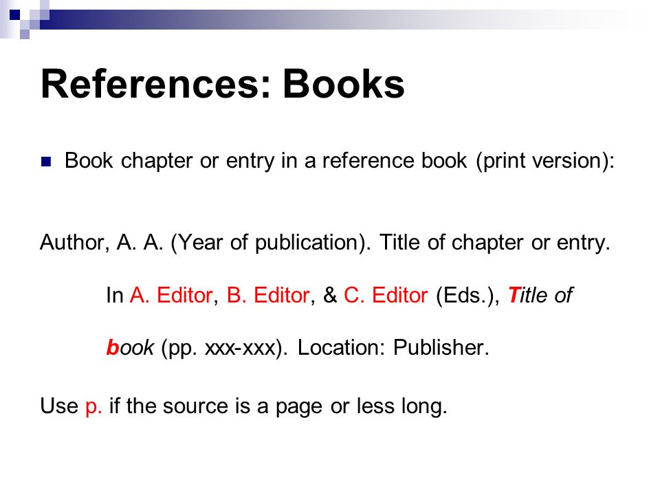 referencing chapter in book apa