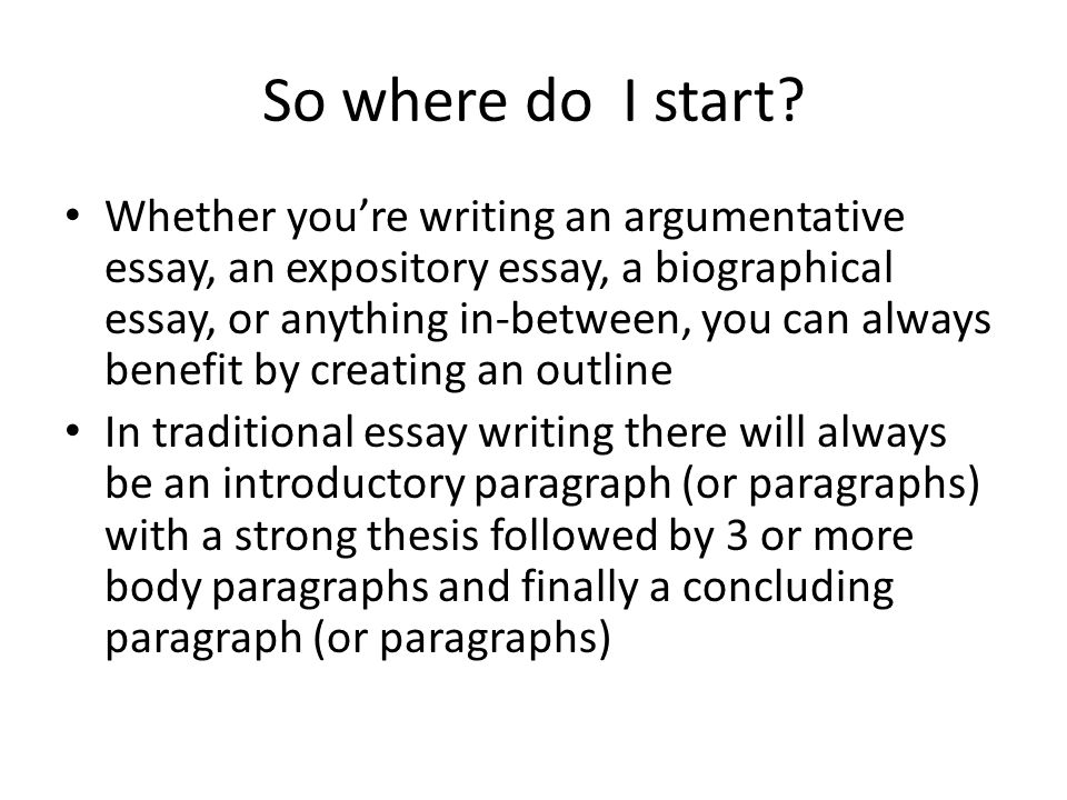 creating an outline for a biographical essay so where do i start  2 so