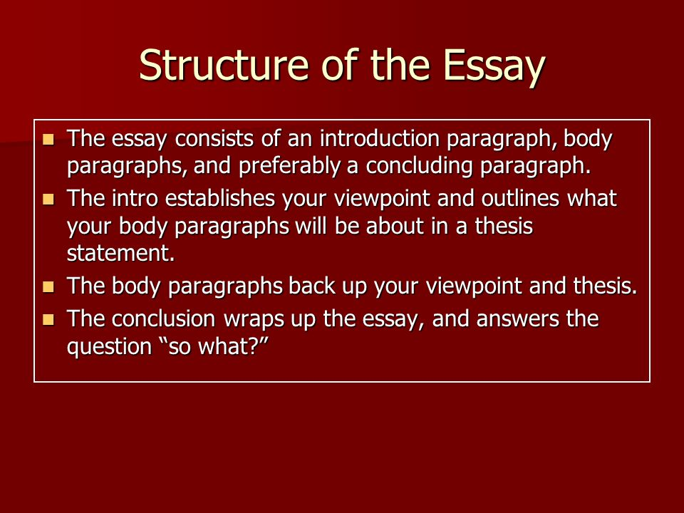 essay structure history How should i structure a historical argumentative essay you should've studied a lot about the point in history you what are the process essay structure.