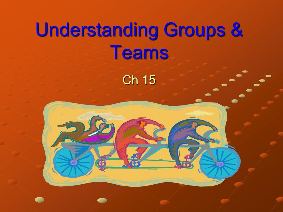 Understanding Groups & Teams Ch 15