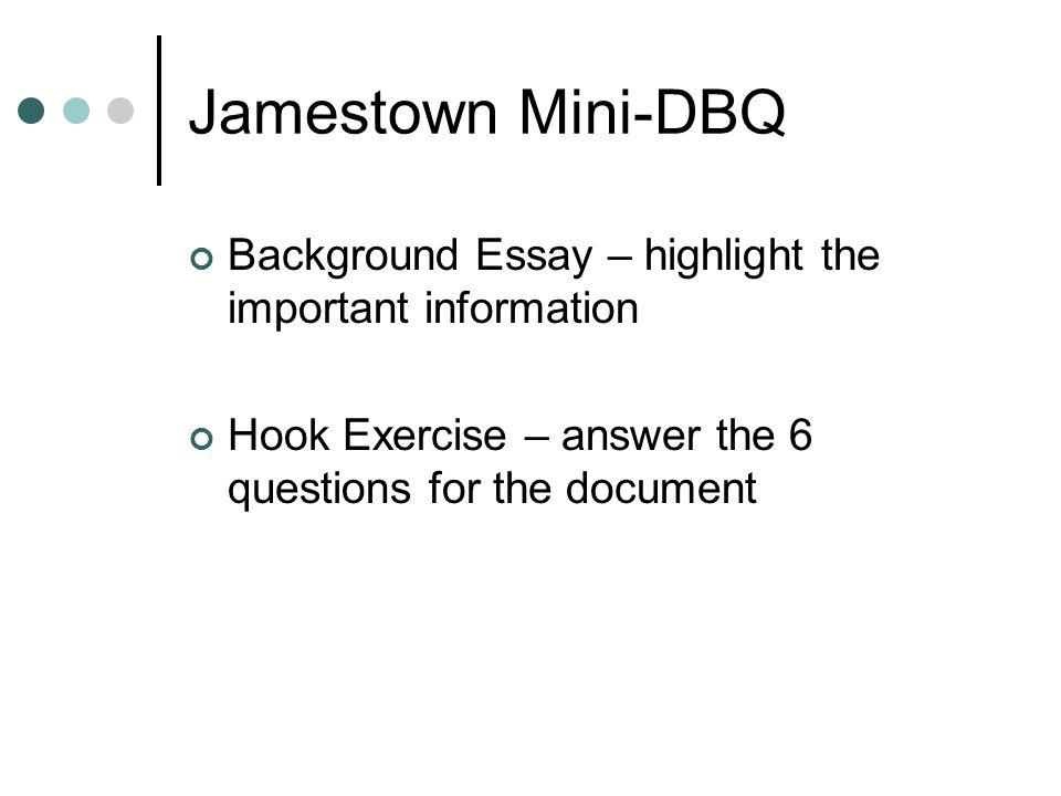jamestown dbq essay