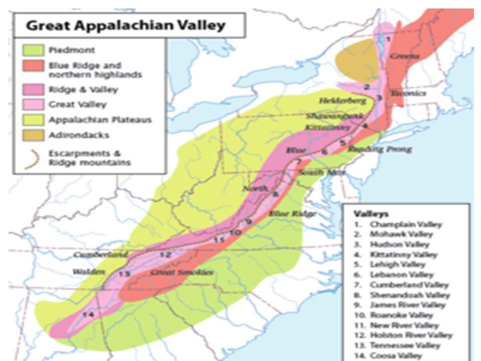 Physical Geography Of The United States And Canada A Land Of - Us map with appalachian mountains