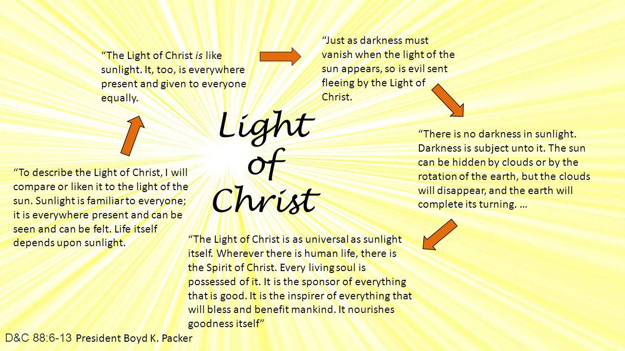Light of Christ D&C 88:6-13 President Boyd K.