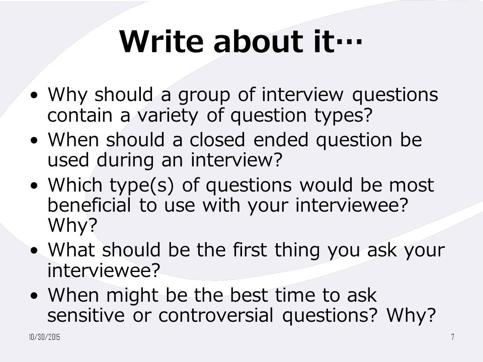 why use interviews