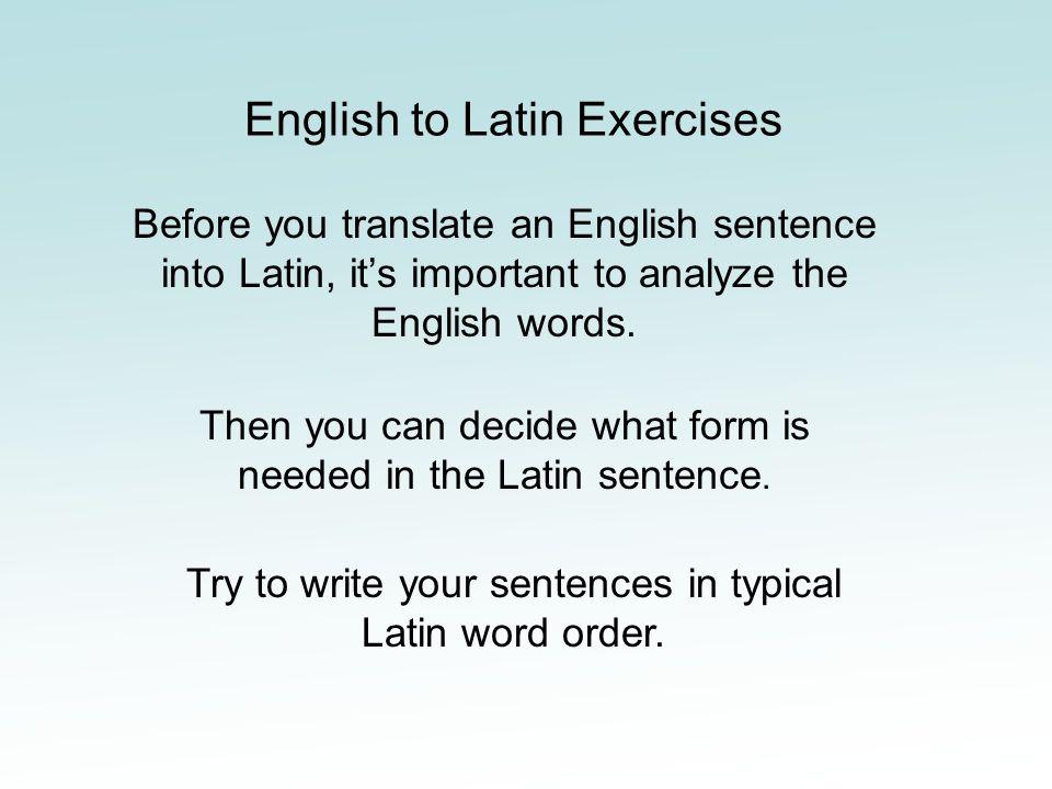 latin english words