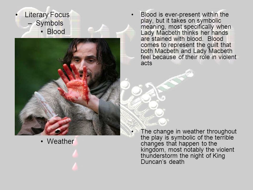 the motif of blood in the tragedy of macbeth by william shakespeare