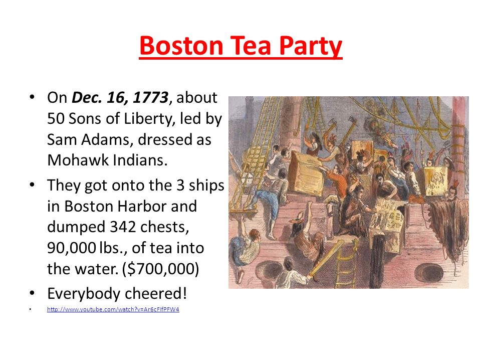Tuesday Nov Update your table of contents DateTitle Entry 11 – Boston Tea Party Worksheets