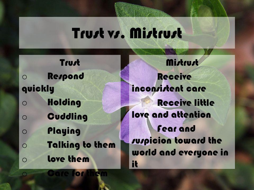 Trust vs.Mistrust TRUST.