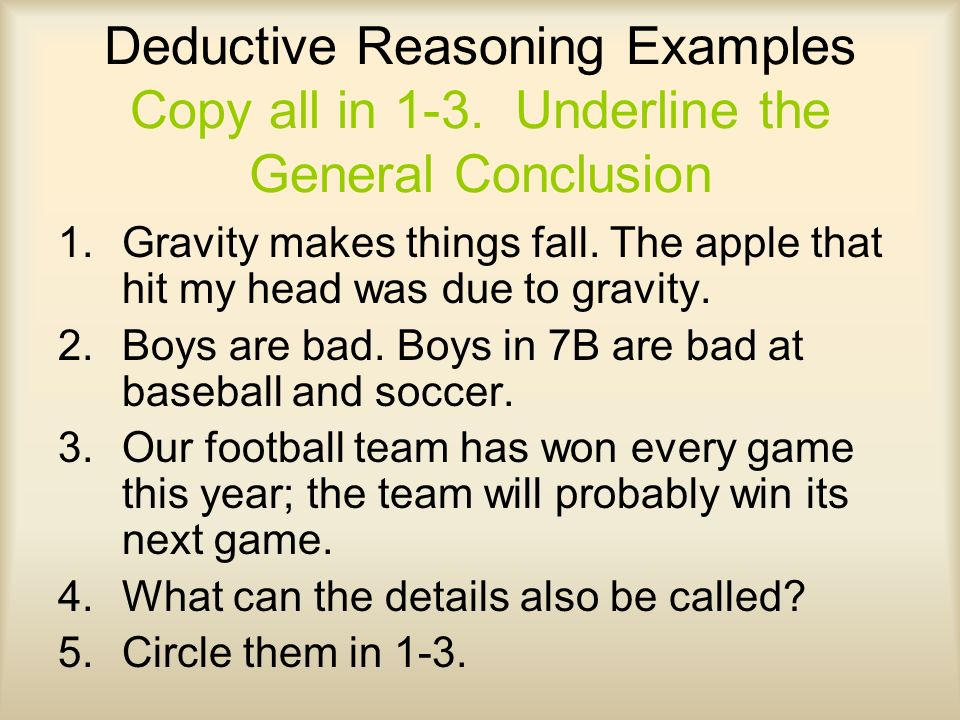 Example Of Deductive Reasoning] Inductive Deductive And Fallacies ...