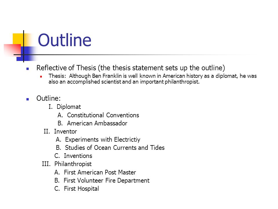 Thesis Statement Outline Generator