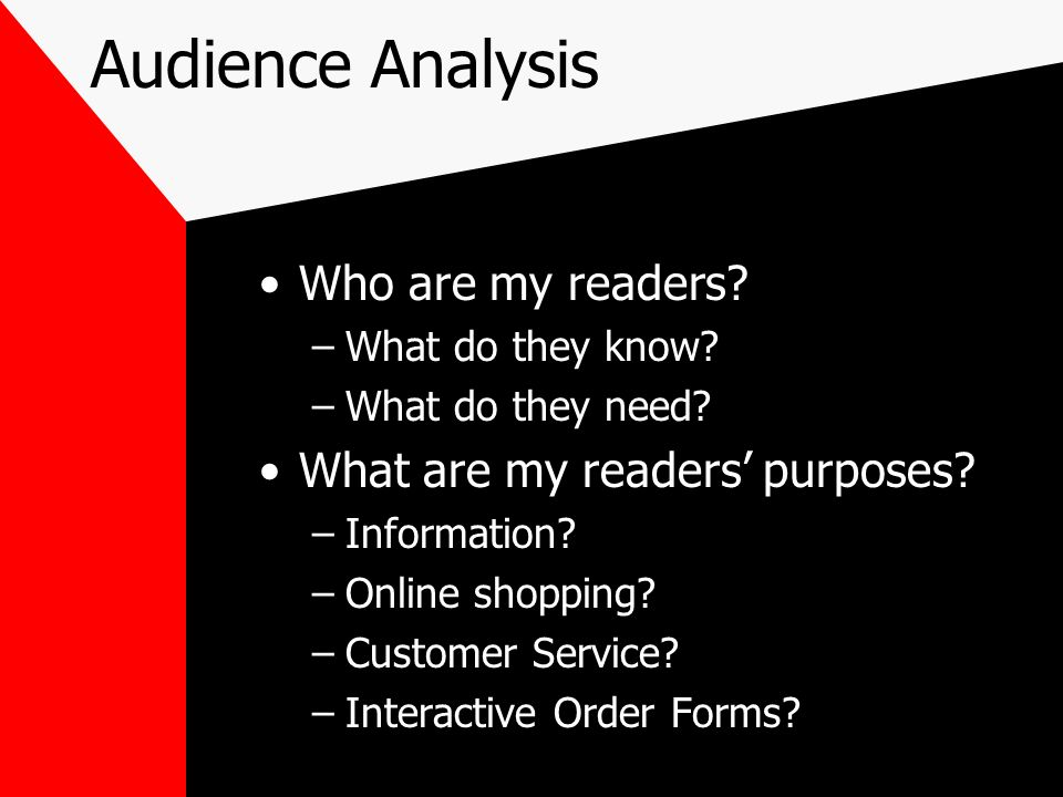 audience analysis 3 essay