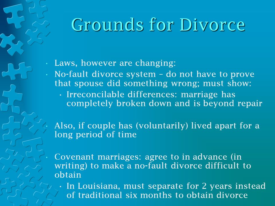 Family law separation divorce and custody marriage problems 7 grounds solutioingenieria Choice Image