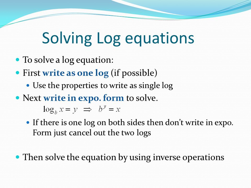 How To Solve Logarithmic Equations Tessshebaylo – Solving Log Equations Worksheet