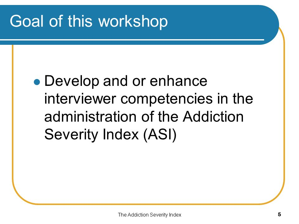 Addiction Severity Index (ASI): The Treatnet Version! Treatnet ...