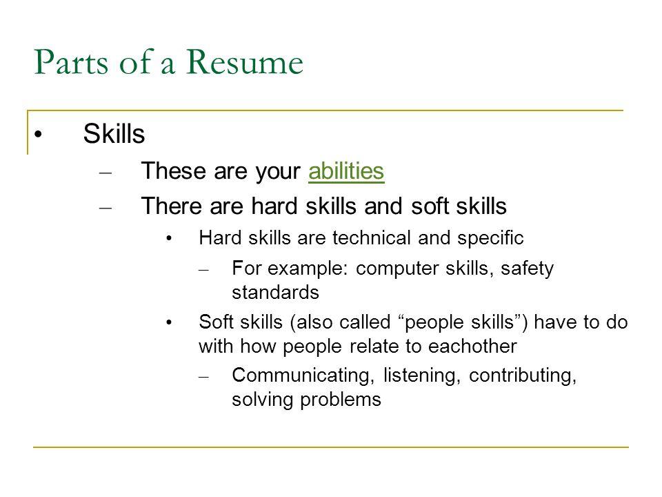 6 Parts Of A Resume Skills ...  Resume People Skills