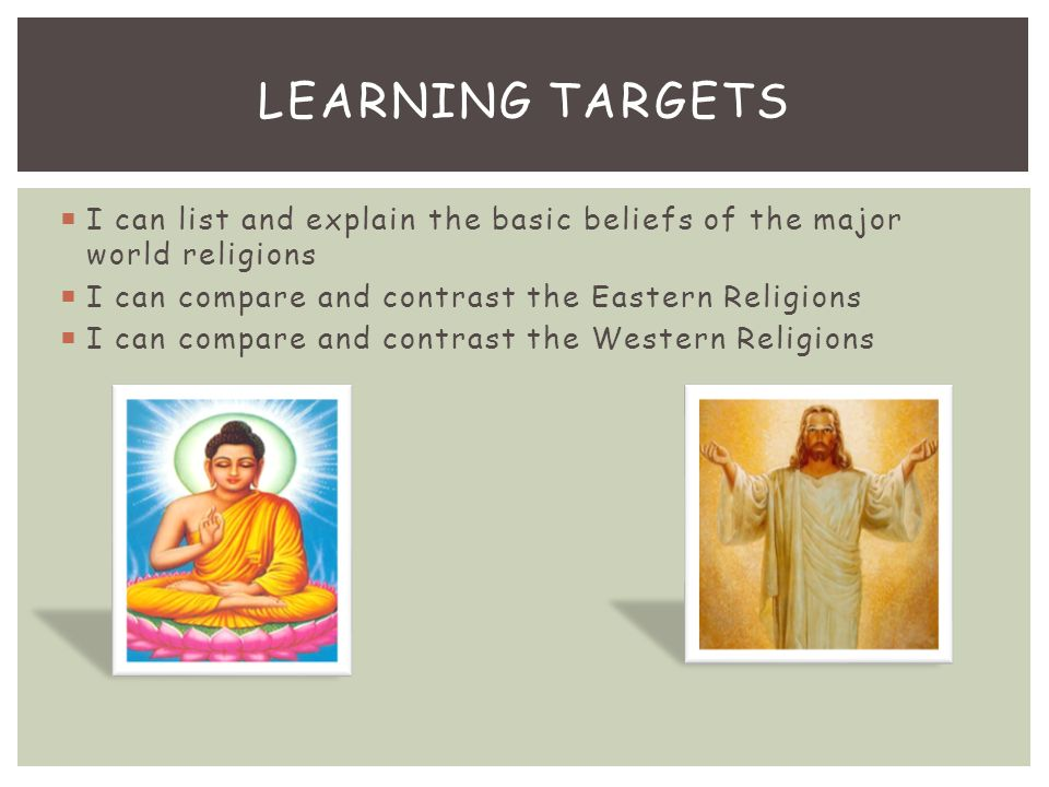 By Samantha Funk Academic WORLD RELIGIONS EASTERN AND WESTERN - List of major world religions