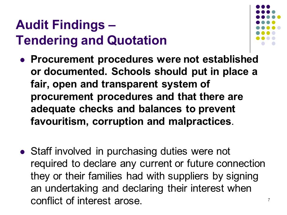 Audit Findings On Kindergarten Inspections Internal Audit Section