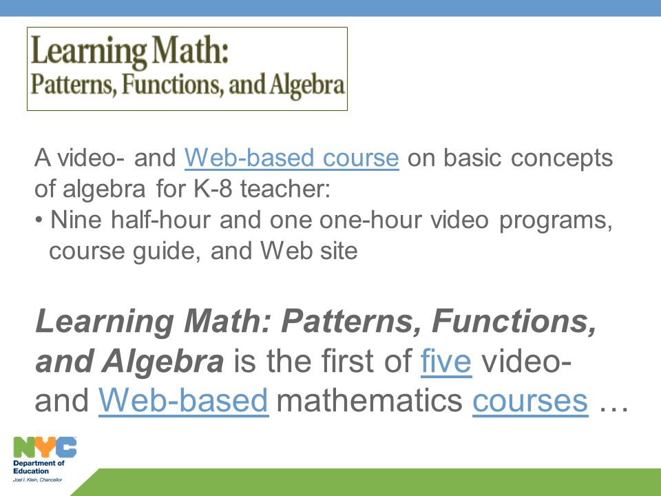 Recognize Linear Relationships and Solve Equations with Technology ...