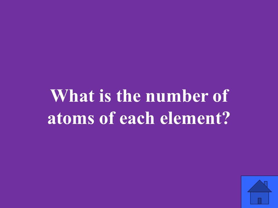 What is the number of atoms of each element