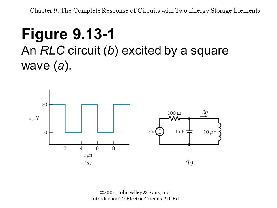 Chapter 9: The Complete Response of Circuits with Two Energy Storage Elements ©2001, John Wiley & Sons, Inc.
