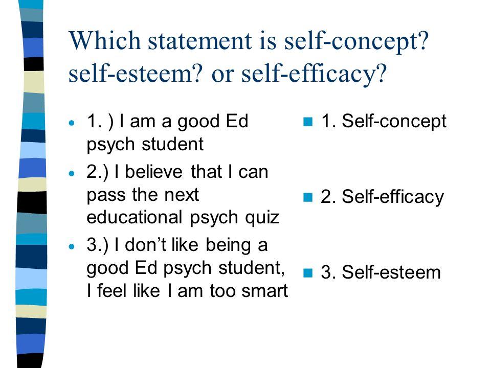 the self concept and self esteem