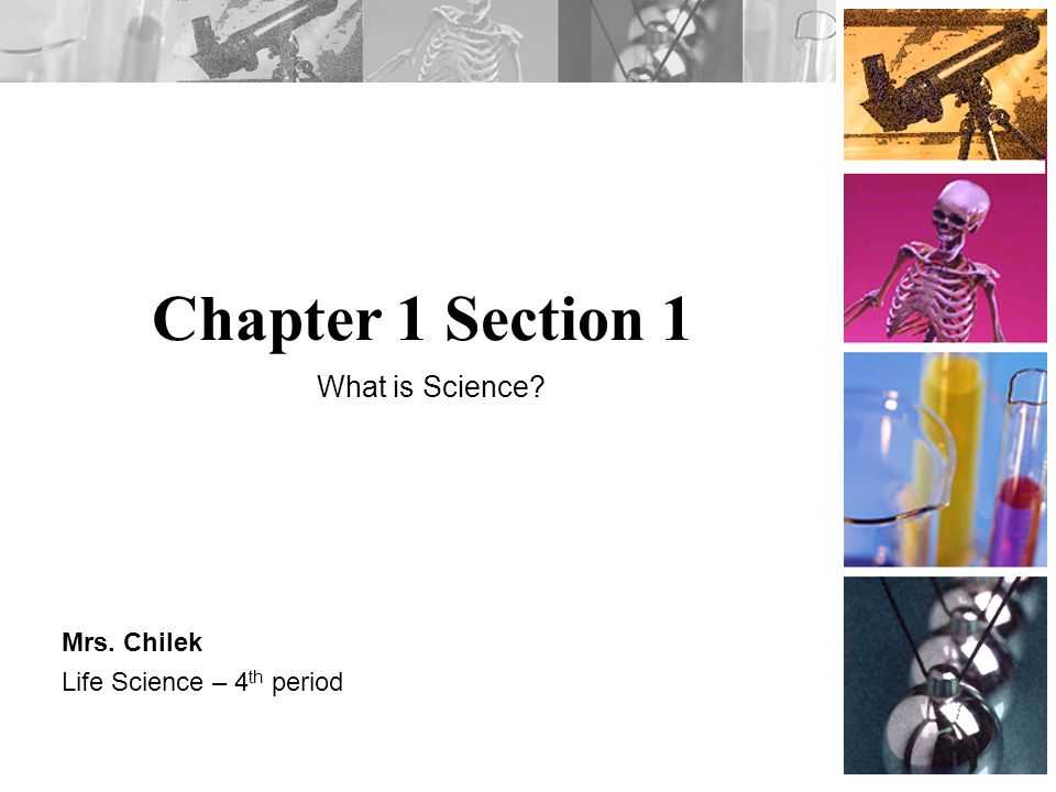 Chapter 1 Section 1 Mrs. Chilek Life Science – 4 th period What is Science