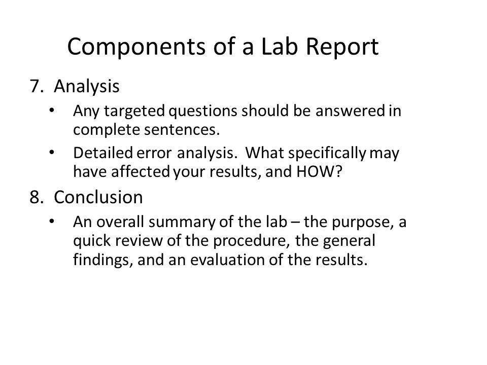 writing a good lab report