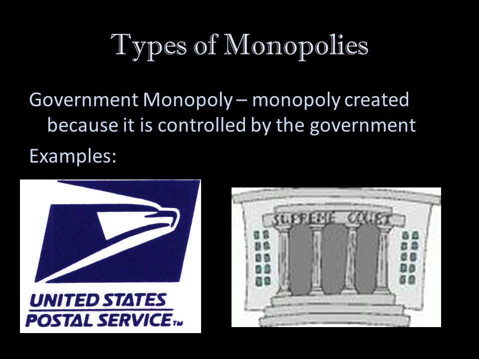 postal service as a monopoly essay Monopolies good or bad a monopoly is a single company that owns all examples of monopolies are public utilities and us postal service monopoly essay.