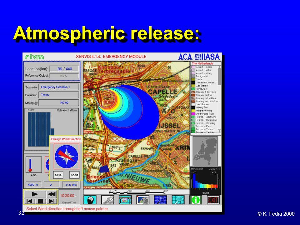 © K. Fedra 2000 32 Atmospheric release: