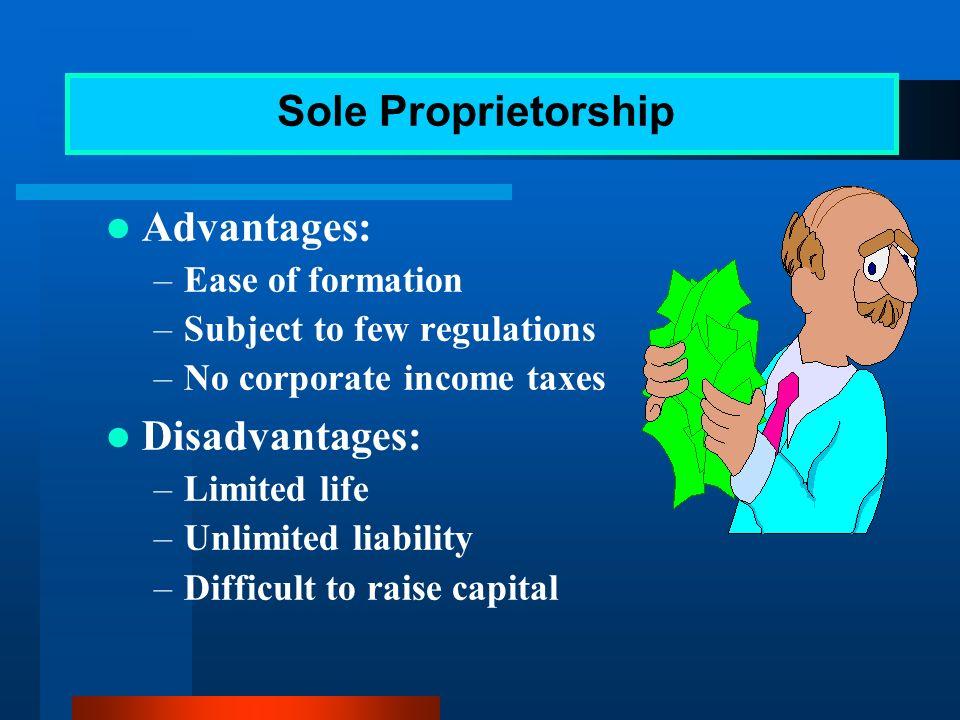 Sole proprietorship Partnership Corporation Alternative Forms of Business Organization