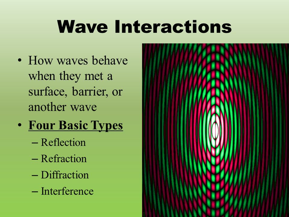 Waves Physical Science What is a Wave Movement of energy through – Wave Interactions Worksheet