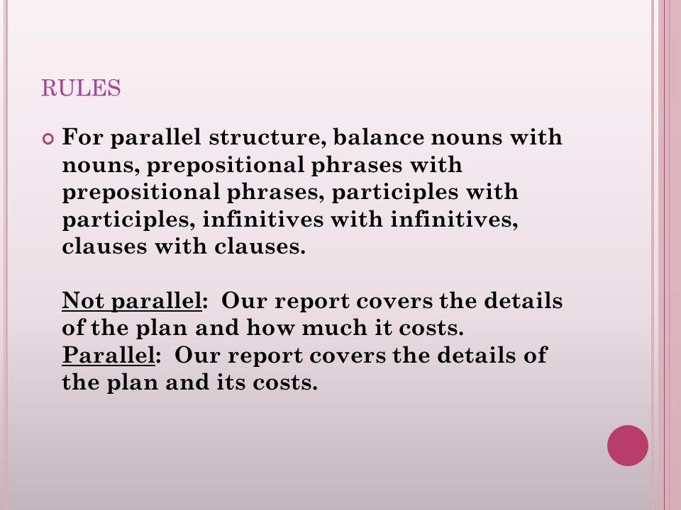 Quiz &amp- Worksheet - Writing Parallel Sentences | Study.com