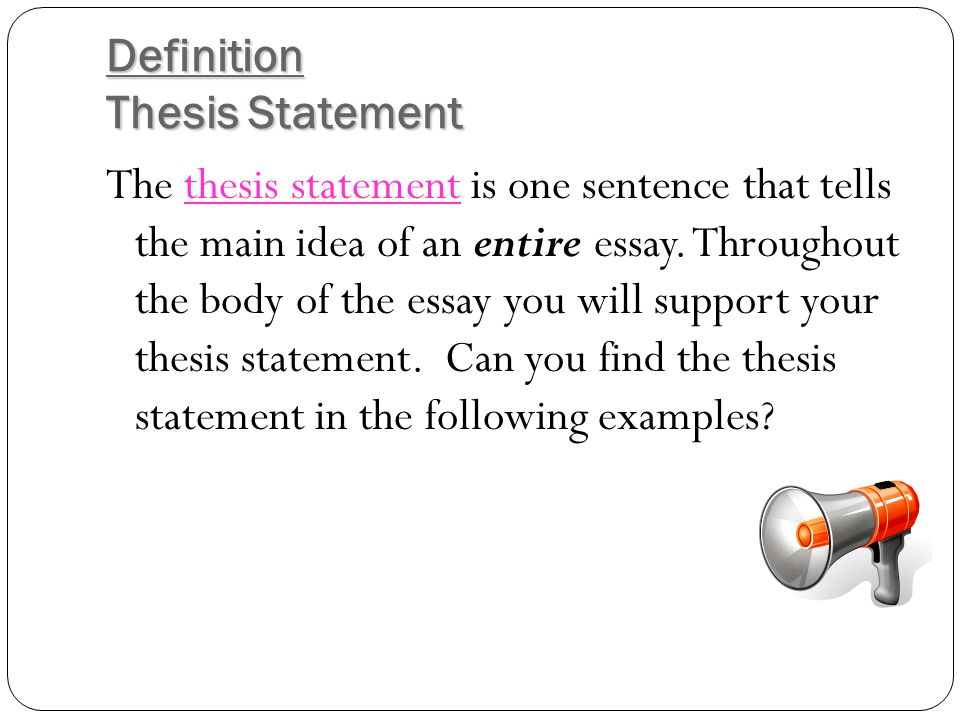 The Roadmap Of Your Essay The Thesis Statement Introduction By The   Introduction By The End Of Our Lesson Today You Will Have A Better  Understanding Of A Thesis Statement Know How To Identify A Thesis Statement  Write A