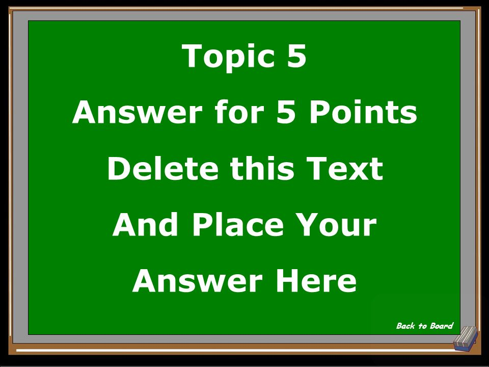 Topic 5 Question for 5 Points Delete this Text And Place Your Question Here Show Answer