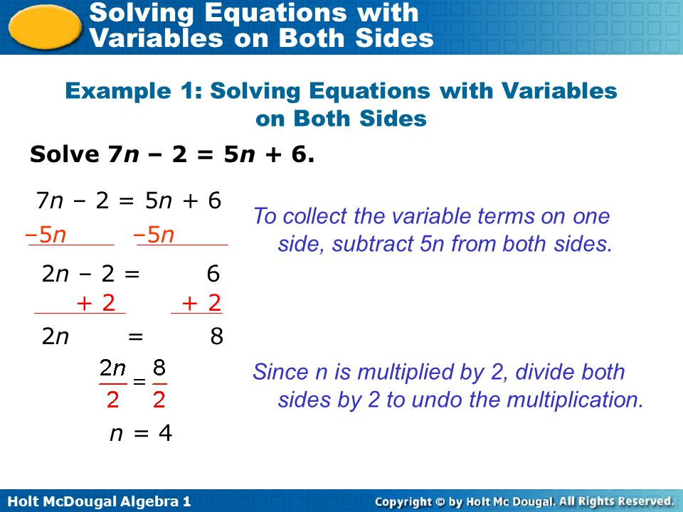 Multi Step Equations Variables On Both Sides Tessshebaylo – Solve Equations with Variables on Both Sides Worksheet