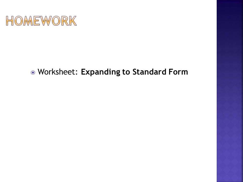 Quadratic Functions Expanding to Standard Form A quadratic – Sf 86 Worksheet