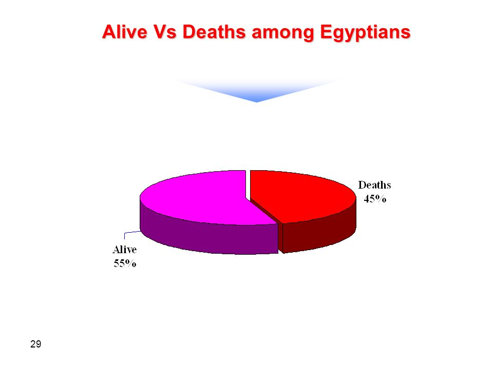 29 Alive Vs Deaths among Egyptians