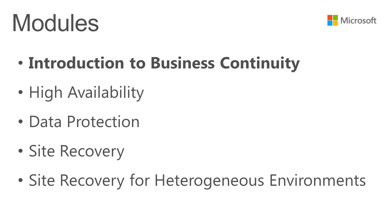 Free online technical courses take a free online course 3 introduction to business continuity high availability data protection site recovery site recovery for heterogeneous environments 1betcityfo Gallery