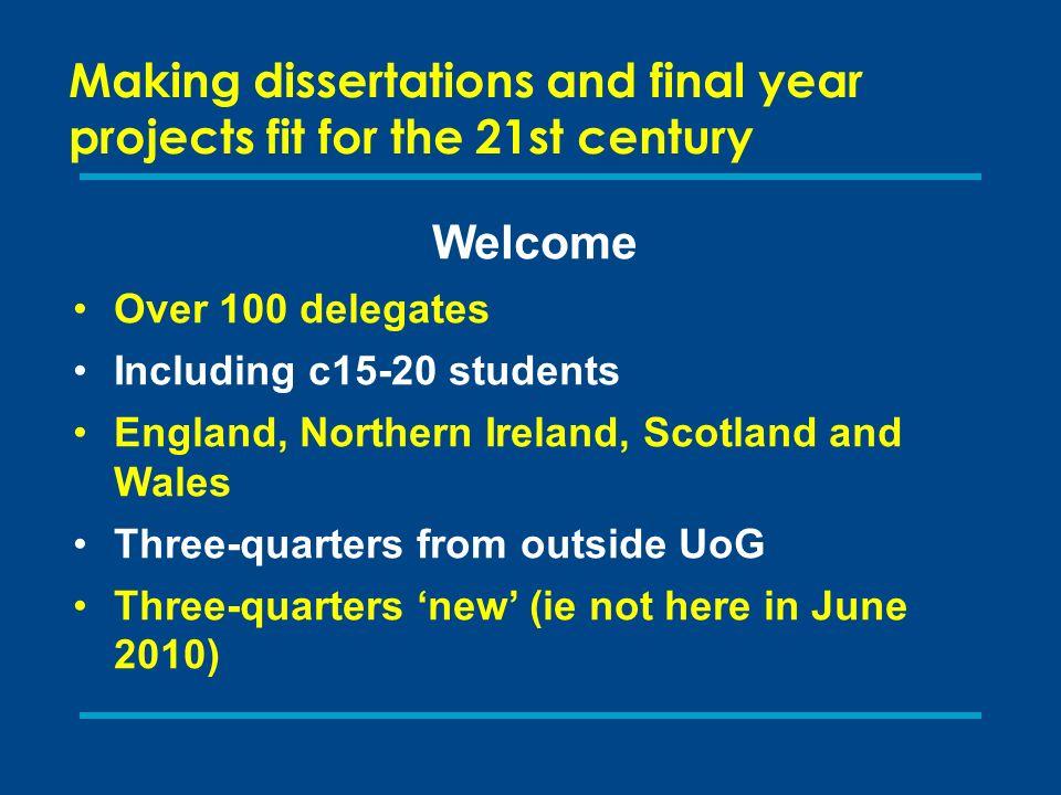 honours dissertations