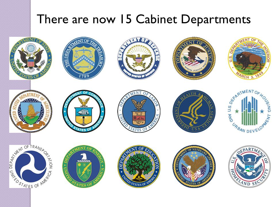 Charming 12 There Are Now 15 Cabinet Departments