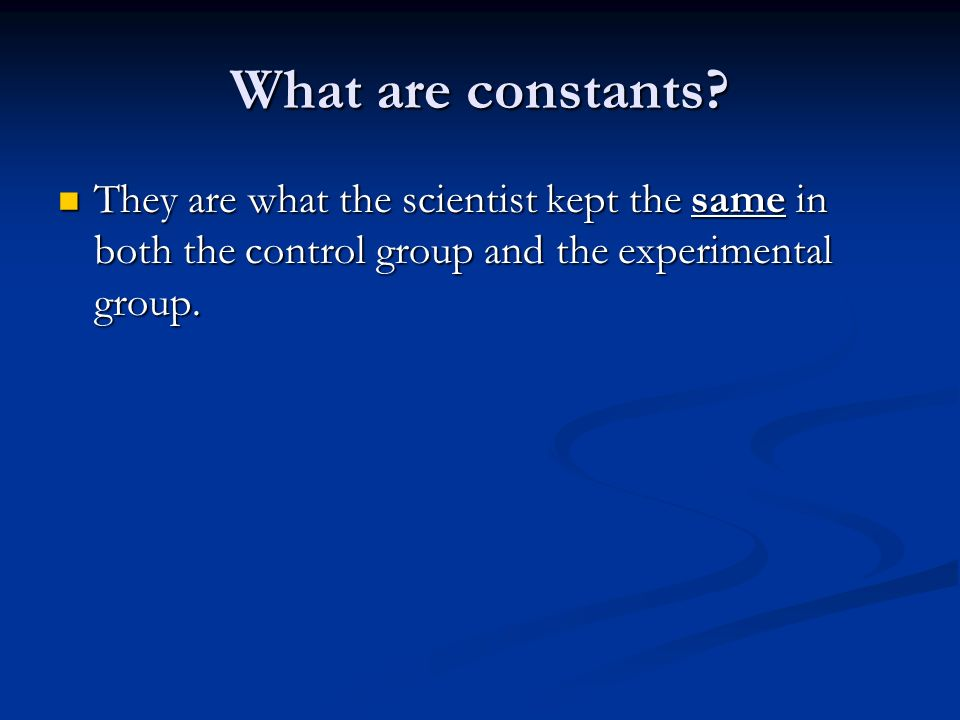 What are constants.